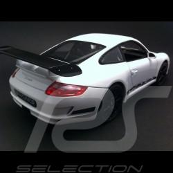Porsche 911 TYPE 997 GT3 RS blanche / noire 1/18 Welly 18015W