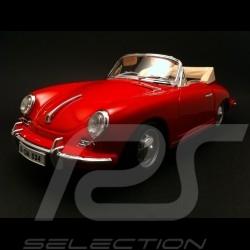 Porsche 356 B Cabriolet 1961 rouge 1/18 Burago 12025