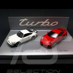 Set 40 ans Porsche 911 Turbo 1/43 Minichamps WAP0200120E