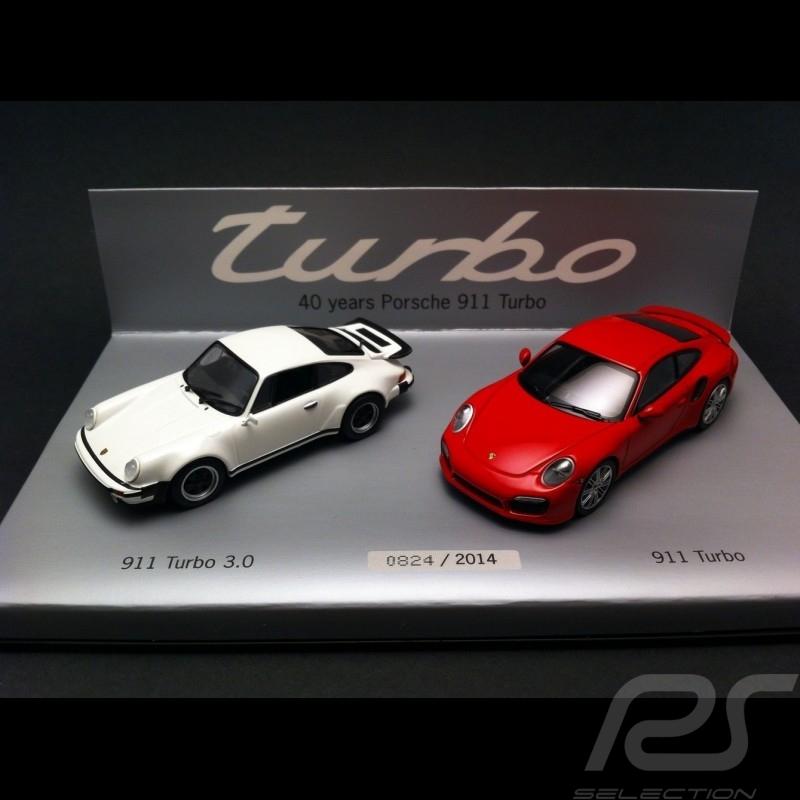 40 Years Porsche 911 Turbo Set 1/43 Minichamps WAP0200120E