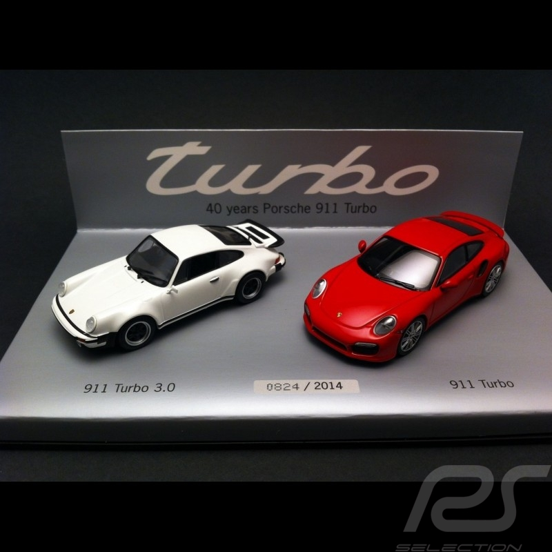 Set 40 ans Years Jahre Porsche 911 Turbo 1/43 Minichamps WAP0200120E