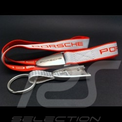 Porte-clés ruban Porsche rouge / gris Porsche Design WAP0502100E Key Strap Schlüsselband