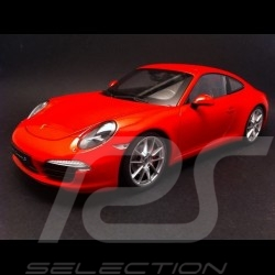 Porsche 991 Carrera S rouge 1/18 Welly 18047W