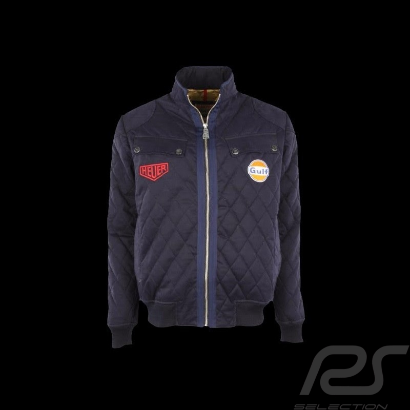 Men's quilted jacket Gulf navy blue