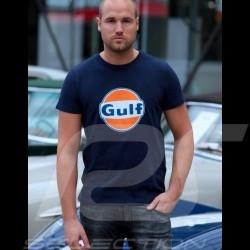 Herren T-shirt logo Gulf marineblau