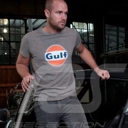 Herren T-shirt logo Gulf cortina grau