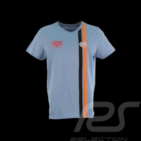 Herren T-shirt Gulf Racing blau