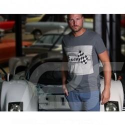 Herren T-shirt Gulf Racing Flagge grau
