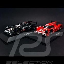 Duo Porsche 919 Hybrid Le Mans 2015 n° 919 red / black 1/43 Spark WAP0205000F WAP0205020F