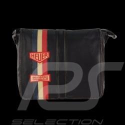 Sac reporter Gulf bandoulière cuir noir Messenger bag Gulf black leather Messengerbag Gulf schwarz Leder