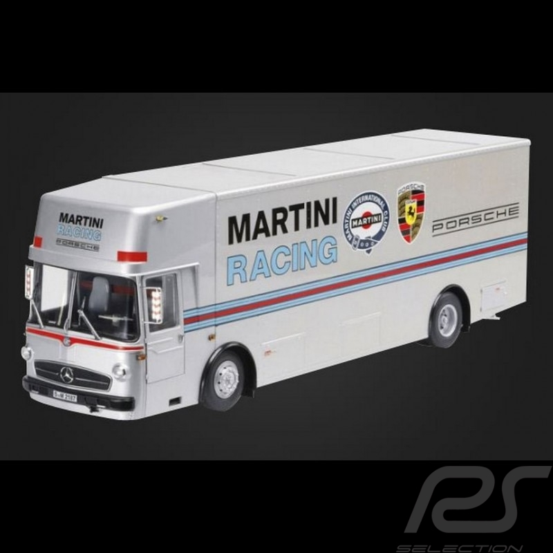 Mercedes Benz O 317 camion race truck Renntransporter Porsche Martini Racing 1/18 Schuco 450032100