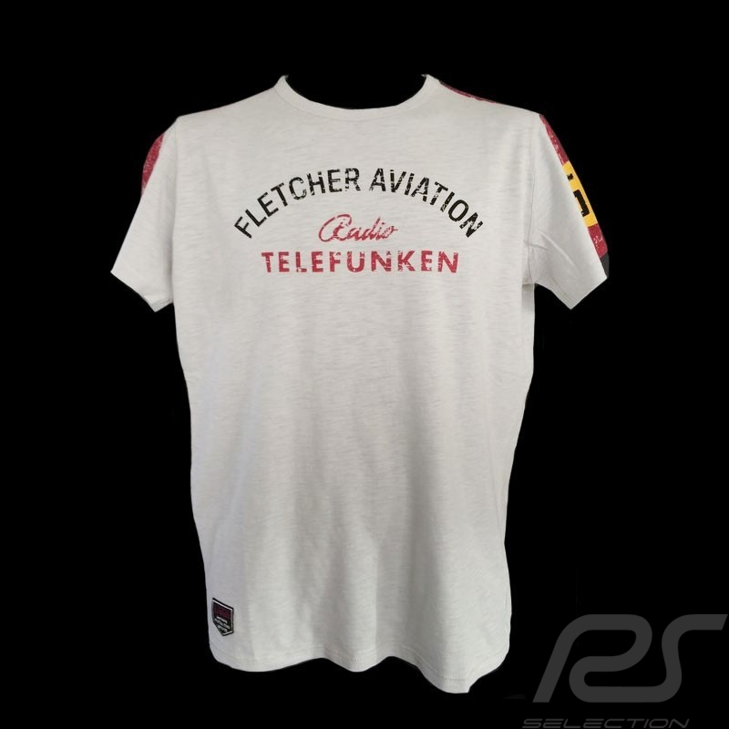 T-shirt Fletcher Aviation Spyder 550 n° 55 gris homme men herren