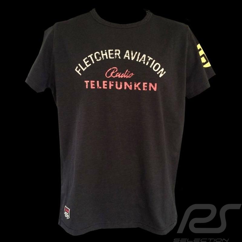 Herren T-shirt Fletcher Aviation Spyder 550 n° 55 schwarz