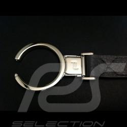 Blau Leder Schlüsselanhänger mit Porsche Design logo