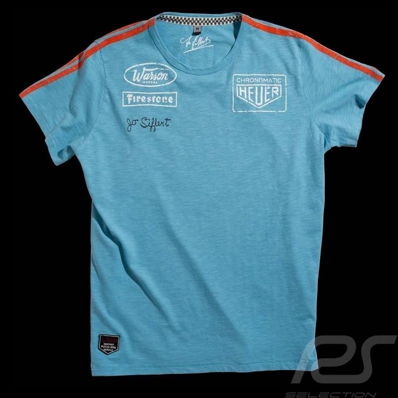 Herren T-shirt Jo Siffert Targa Gulf Blau n° 12