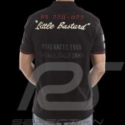 """Men's Polo shirt """"Little Bastard"""" n° 130 black"""