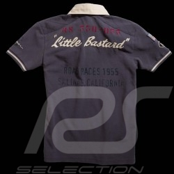 "Men's Polo shirt ""Little Bastard"" n° 130 grey"