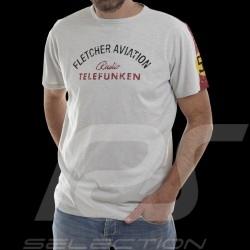 T-shirt Fletcher Aviation Spyder 550 n° 55 gris homme men herren