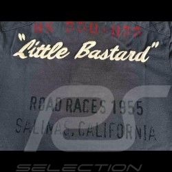 "Herren Polo-shirt ""Little Bastard"" n° 130 grau"