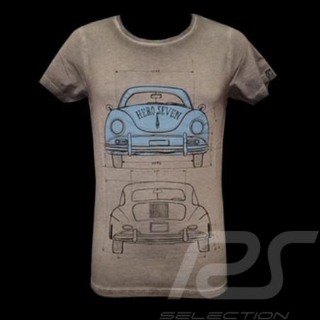 T-Shirt Herren Porsche 356 grau