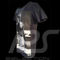 """Men's T-shirt  Steve McQueen """" Coffee """" navy blue"""
