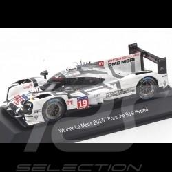 """Porsche 919 """" finish line """" Le Mans 2015 n° 19 1/43 Spark MAP02087315"""