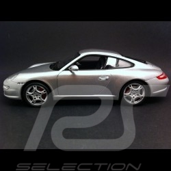 Porsche 997 Carrera S Coupé 2005 - 2009 gris 1/18 Welly 18004