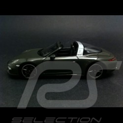 """Porsche 911 991 Targa 4 S """" 65 years Porsche Luxembourg """" 2015 grey 1/43 Spark WAX02020008"""
