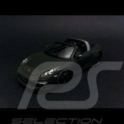 """Porsche 991 Targa 4 S """" 65 ans Porsche Luxembourg """" 2015 gris 1/43 Spark WAX02020008"""