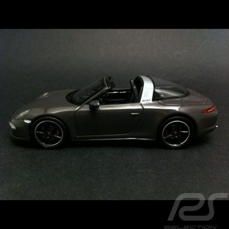 "Porsche 991 Targa 4 S "" Edition France "" 2015 gris 1/43 Spark WAX02020010"
