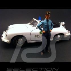Flic 1/18 figurine policier French Policeman Polizei französisch diorama 1/18 AE180004