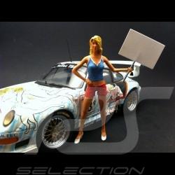 Fille panneau bleue 1/18 Figurine diorama AE180049