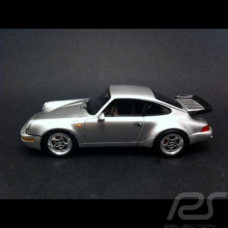 Porsche 911 type 964 Turbo 3.6 1993 gris 1/43 Spark S4475