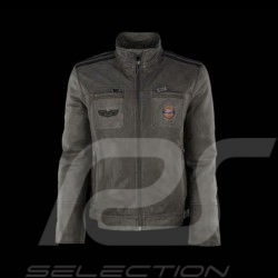 Gulf leather jacket grey for men