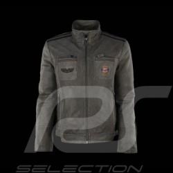 Veste Gulf en cuir gris pour homme Gulf leather jacket grey for men Lederjacke Gulf grau für Herren