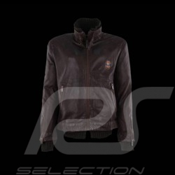 Veste homme Gulf en cuir marron Men's leather jacket brown Lederjacke Herren braun