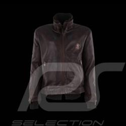 Veste homme Gulf en cuir marron Men's leather jacket brown Lederjacke Herren braun