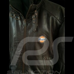 Men's Gulf leather jacket brown
