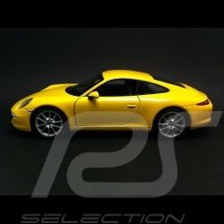 Porsche 991 Carrera S coupe gelb 1/24 welly 24040Y