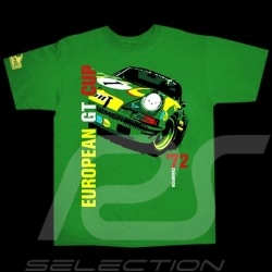 T-Shirt homme Hunziker Porsche 911 Kremer GT Cup 1972 vert
