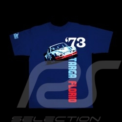 Men's T-shirt Porsche 911 Targa Florio 1973 navy blue