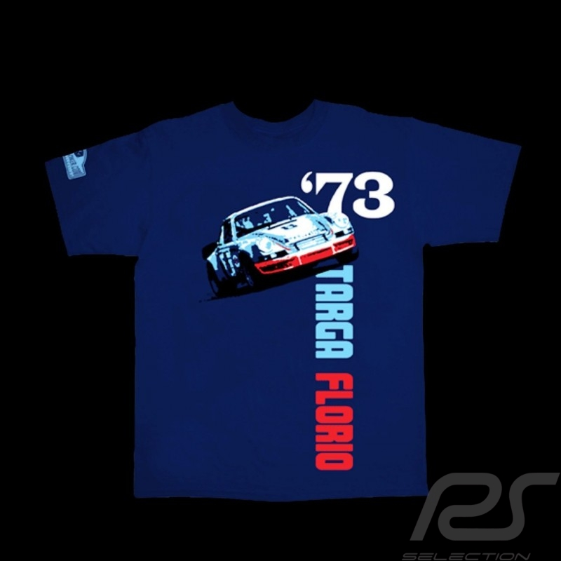 Men's T-shirt Porsche 911 Targa Florio 1973 navy blue