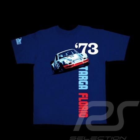 T-Shirt Herren Porsche 911 Targa Florio 1973 marineblau