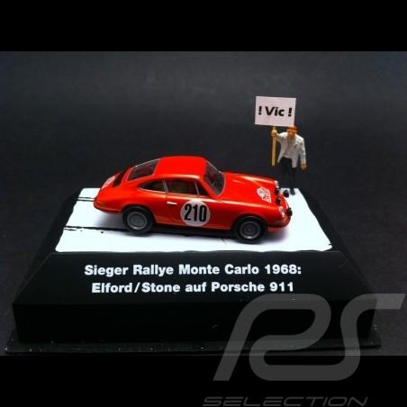 Porsche 911 Monte Carlo 1968 n° 210 1/87 Brekina 91627