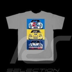 T-Shirt homme Hunziker Porsche 911 RSR gris