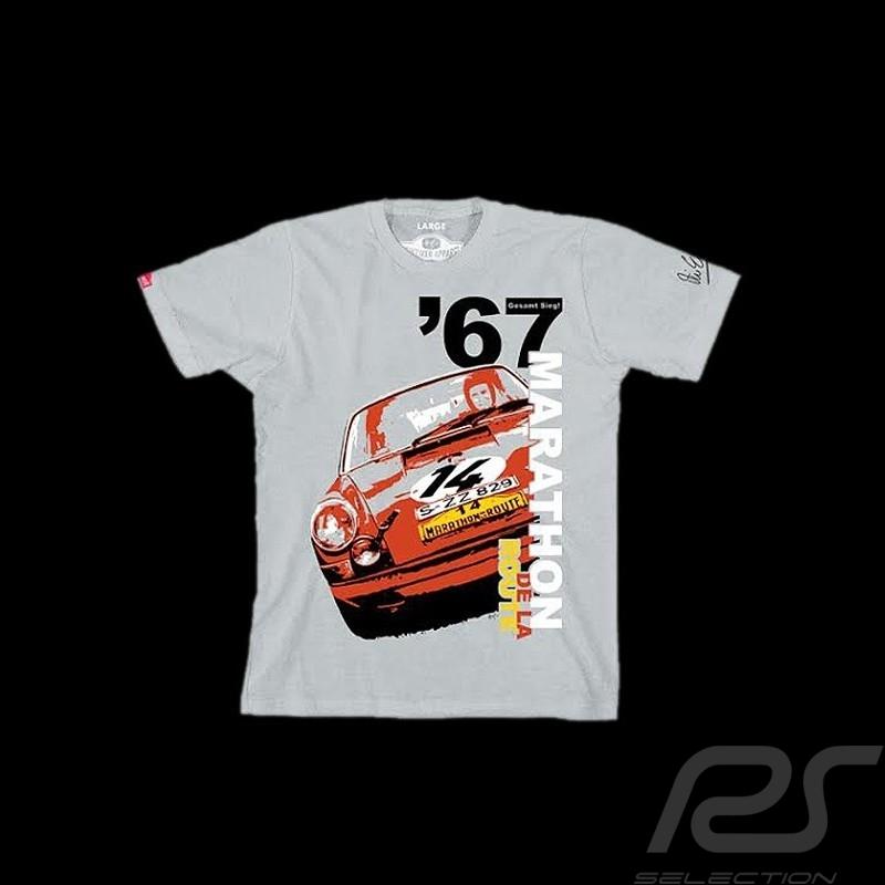 Men's T-shirt Porsche 911 Marathon de la route 1967 grey