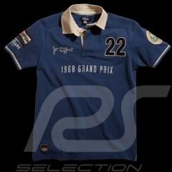 Polo Jo Siffert n° 22 bleu homme men herren