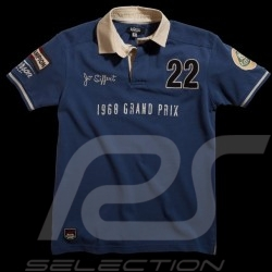 Men's Polo shirt Jo Siffert n° 22 blue