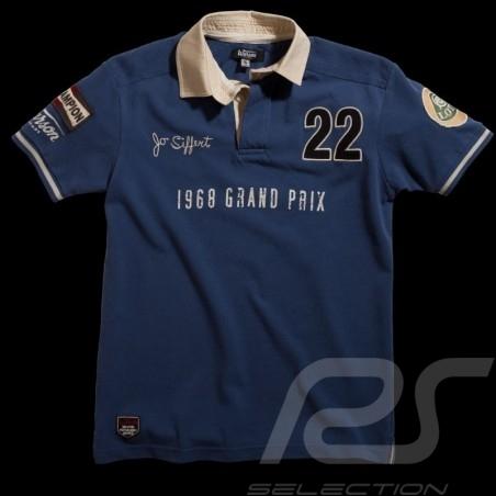 Men's Polo shirt Jo Siffert n° 22 blue
