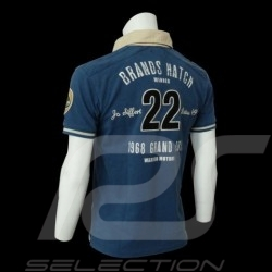 Herren Polo-shirt Jo Siffert n° 22 blau